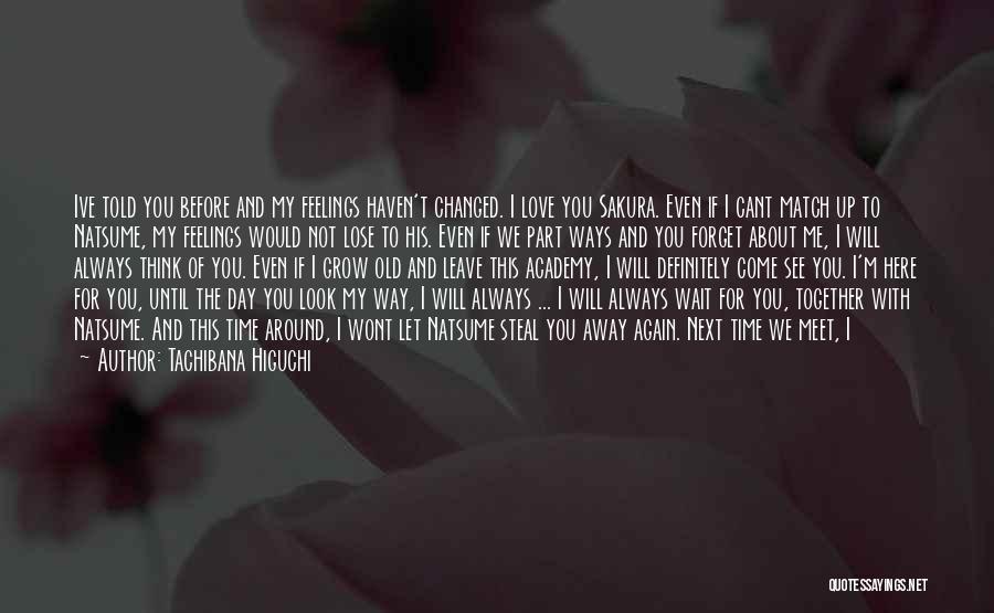 Let Me Love You Again Quotes By Tachibana Higuchi