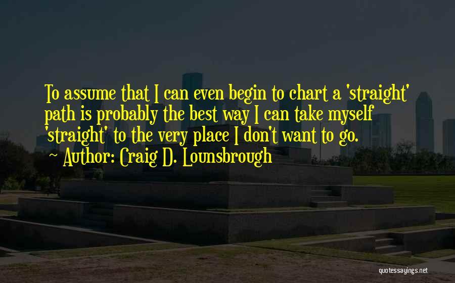 Let The Journey Begin Quotes By Craig D. Lounsbrough