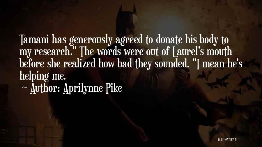 Let's Donate Quotes By Aprilynne Pike