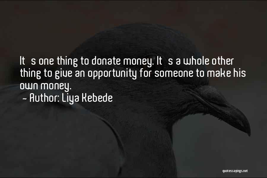 Let's Donate Quotes By Liya Kebede