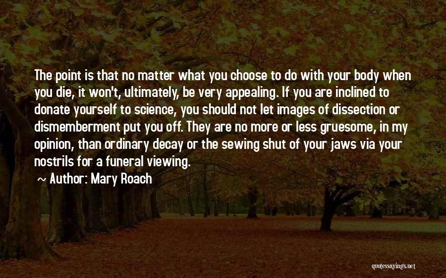 Let's Donate Quotes By Mary Roach