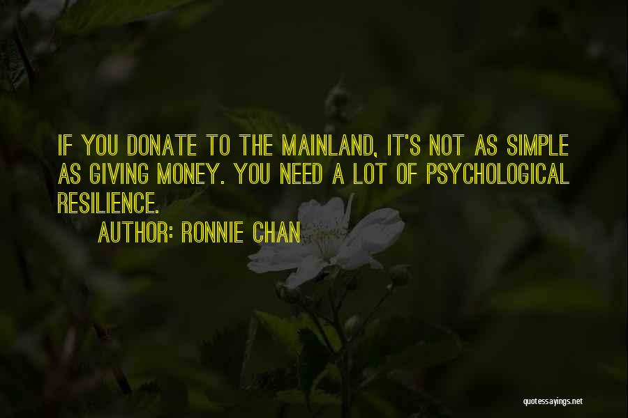 Let's Donate Quotes By Ronnie Chan