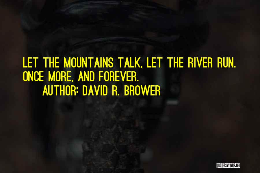 Let's Talk More Quotes By David R. Brower