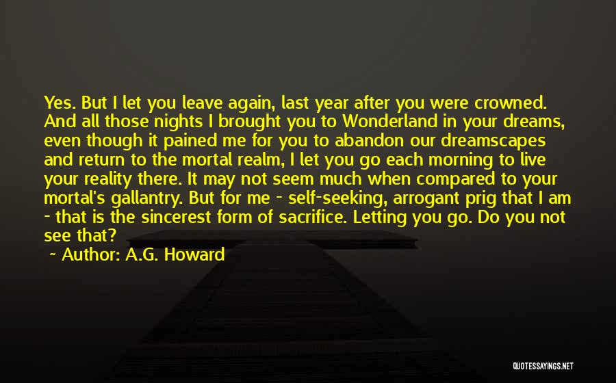 Letting Go Quotes By A.G. Howard
