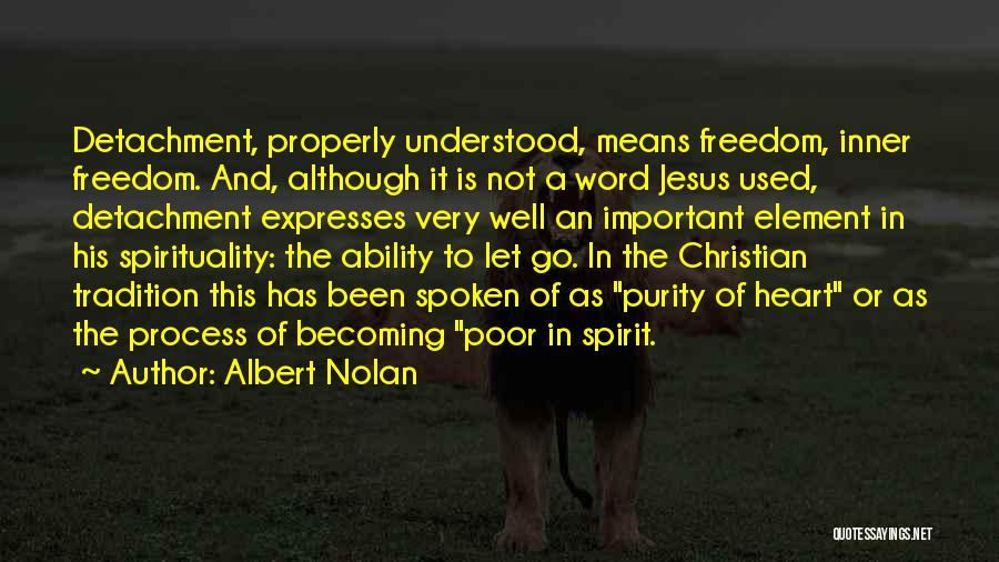 Letting Go Quotes By Albert Nolan