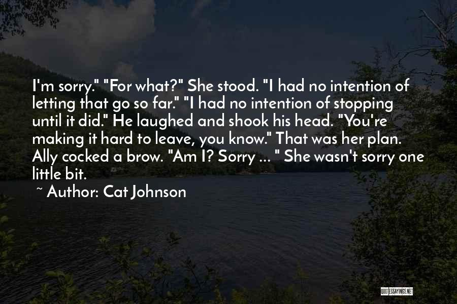 Letting Go Quotes By Cat Johnson