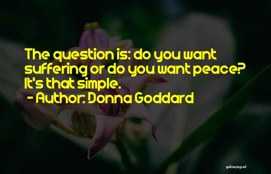 Letting Go Quotes By Donna Goddard
