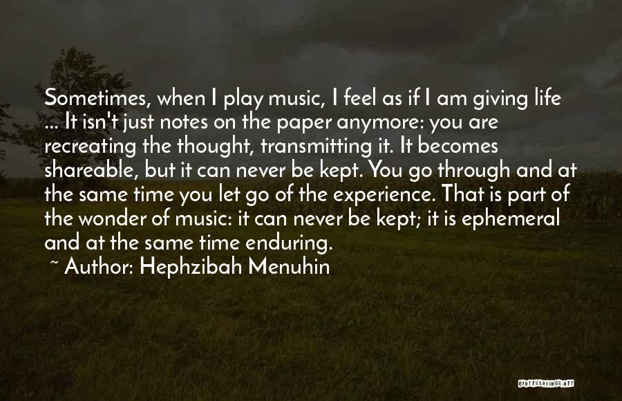 Letting Go Quotes By Hephzibah Menuhin