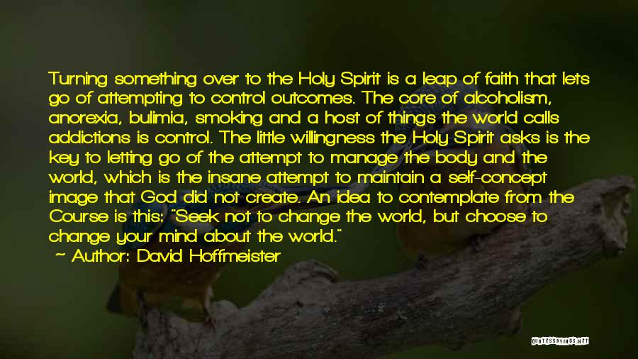 Letting God Be In Control Quotes By David Hoffmeister