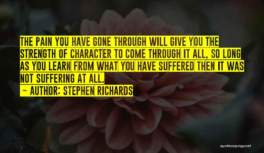 Letting Him Go And Moving On Quotes By Stephen Richards