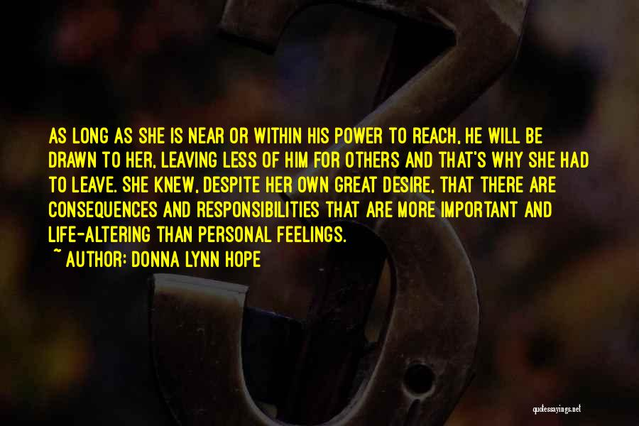 Letting Someone Out Of Your Life Quotes By Donna Lynn Hope