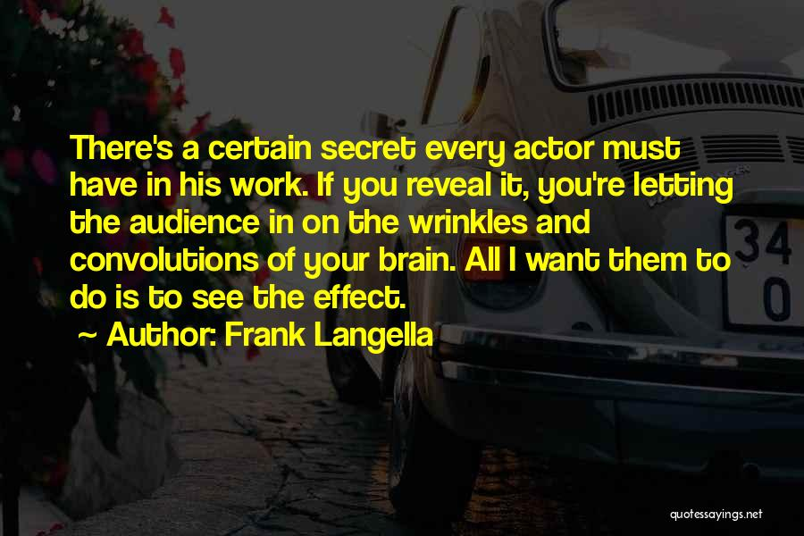 Letting Things Work Themselves Out Quotes By Frank Langella