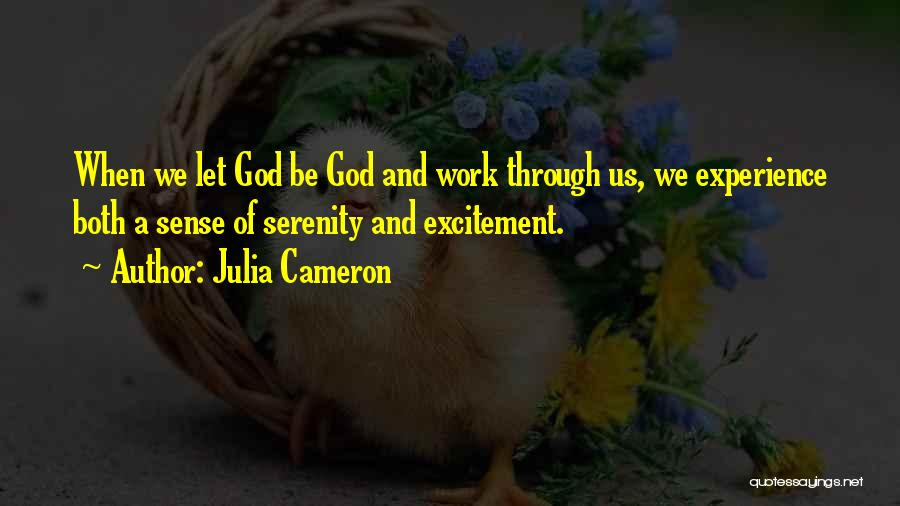 Letting Things Work Themselves Out Quotes By Julia Cameron
