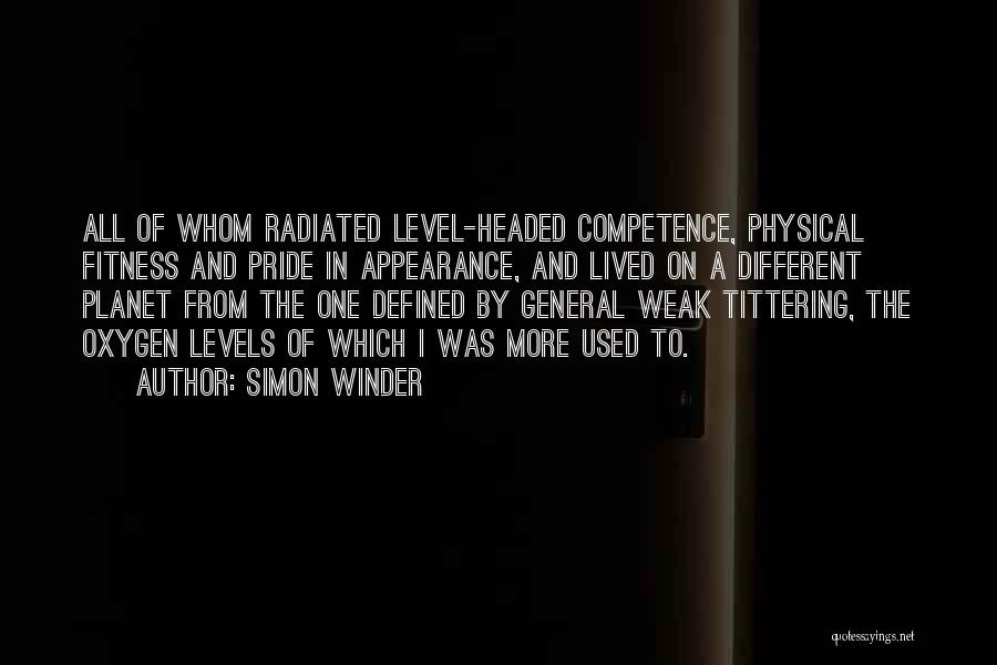 Level Headed Quotes By Simon Winder