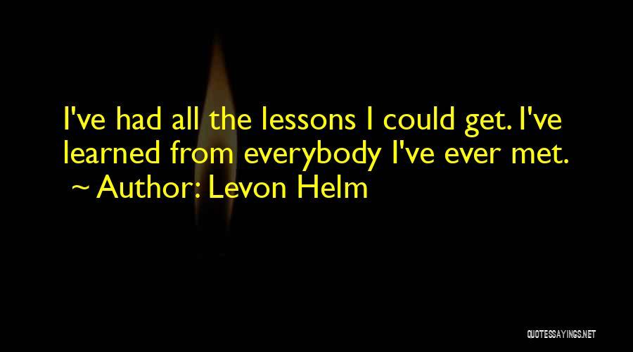 Levon Helm Quotes 1561696