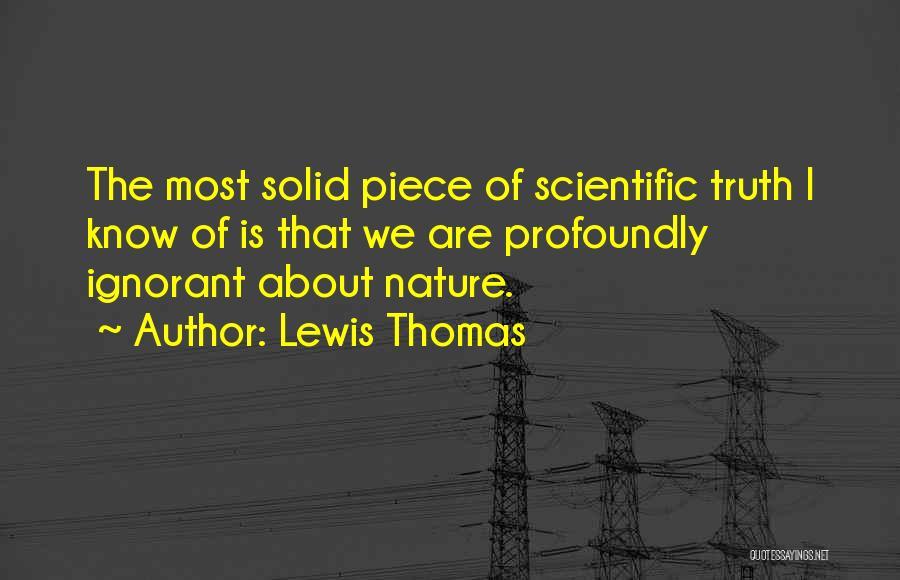 Lewis Thomas Quotes 1583184