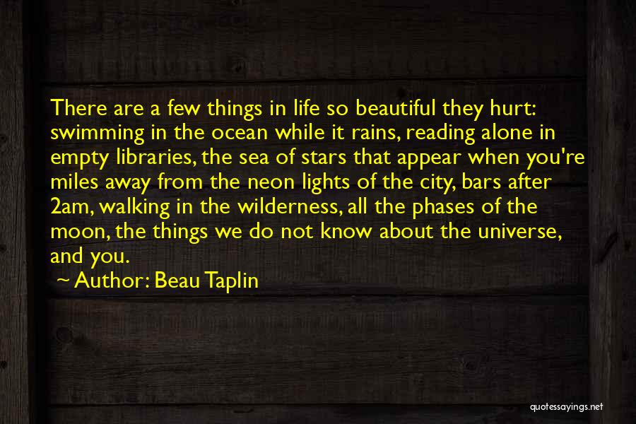 Libraries And Reading Quotes By Beau Taplin