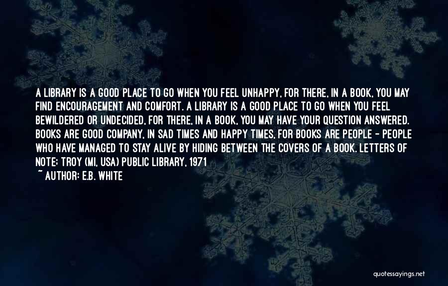 Libraries And Reading Quotes By E.B. White
