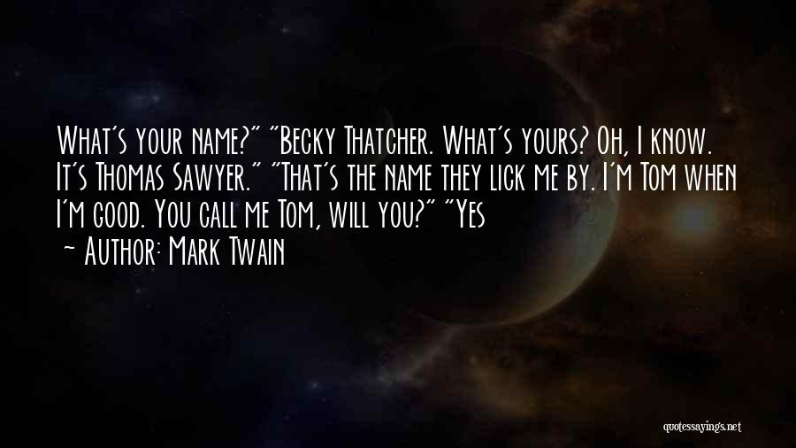 Lick Me Quotes By Mark Twain