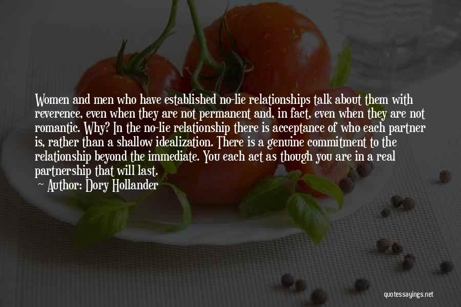 Lie In Relationship Quotes By Dory Hollander