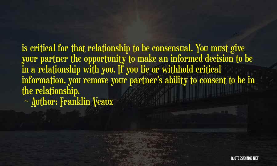 Lie In Relationship Quotes By Franklin Veaux