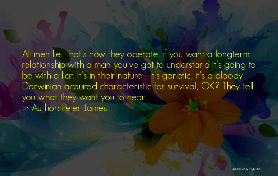 Lie In Relationship Quotes By Peter James
