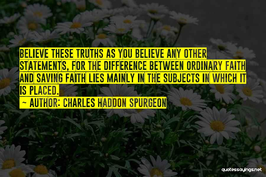 Lies And Quotes By Charles Haddon Spurgeon