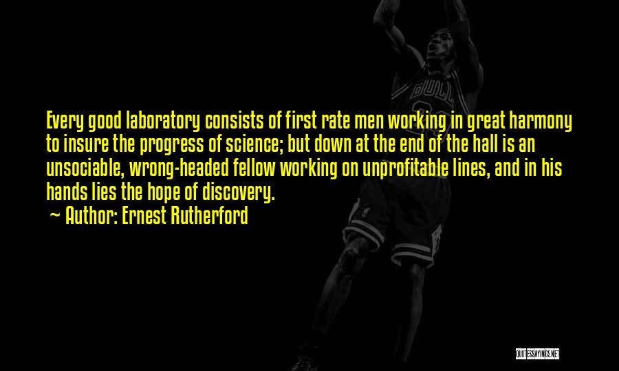 Lies And Quotes By Ernest Rutherford