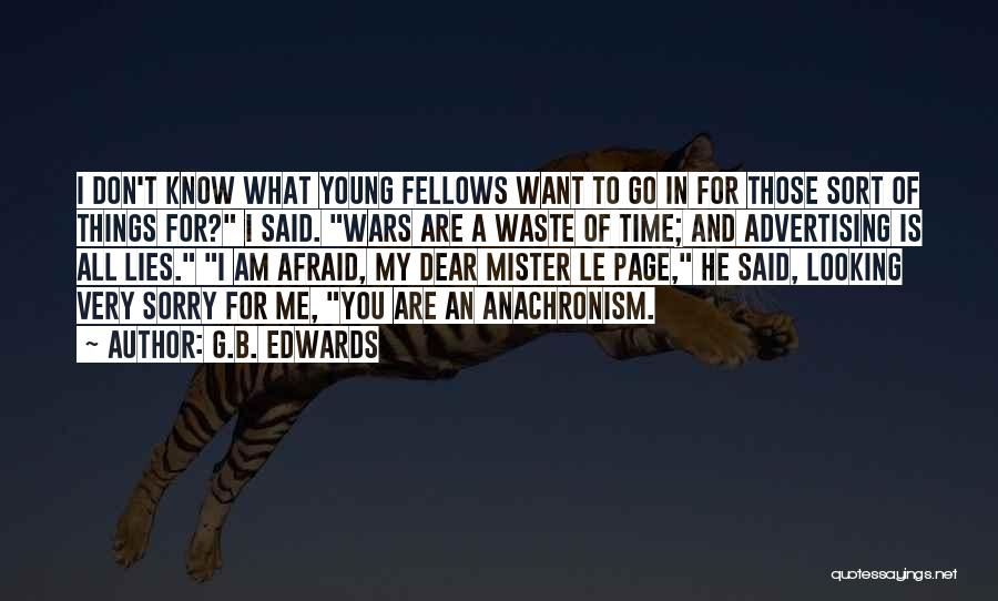 Lies And Quotes By G.B. Edwards