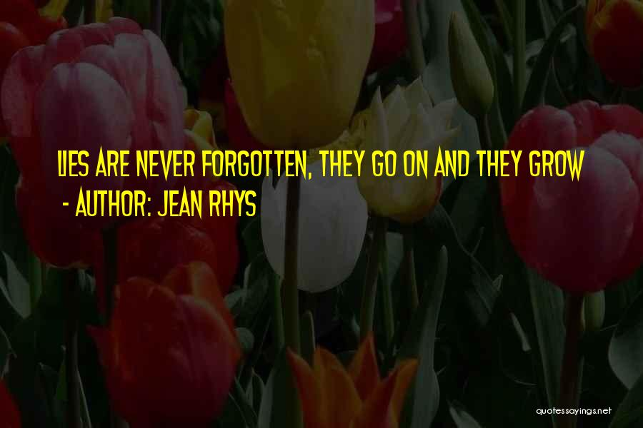 Lies And Quotes By Jean Rhys
