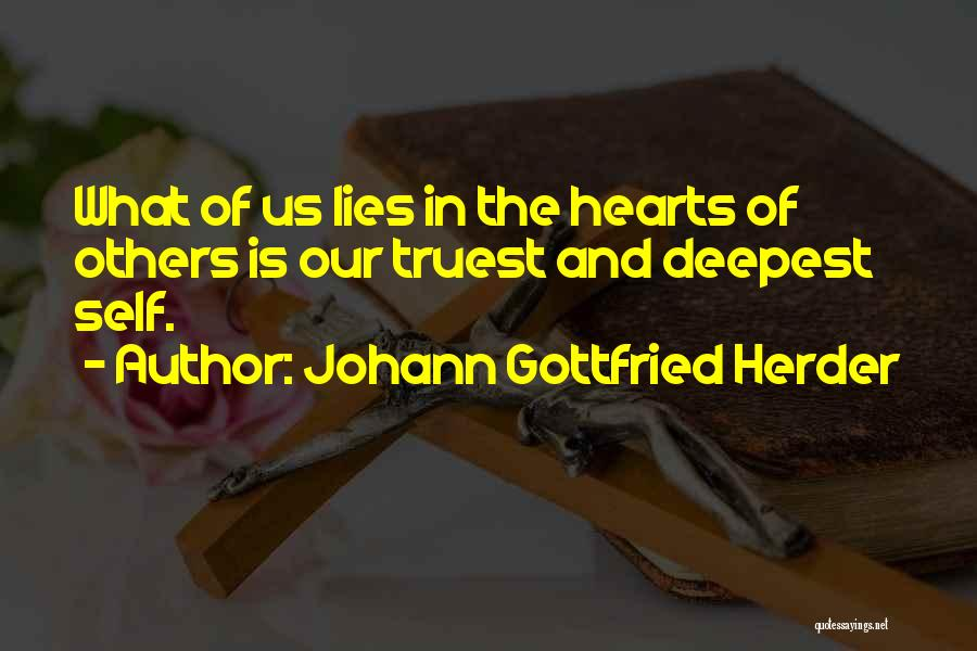 Lies And Quotes By Johann Gottfried Herder
