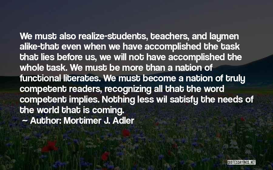 Lies And Quotes By Mortimer J. Adler