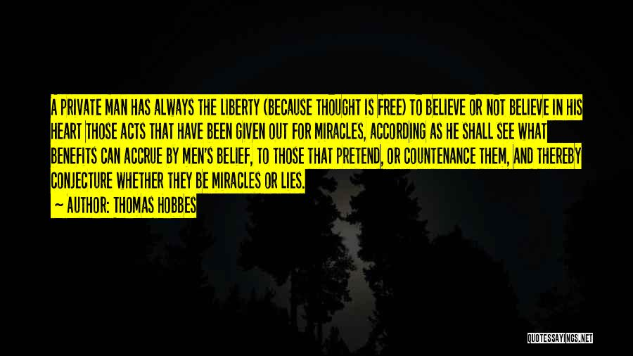 Lies And Quotes By Thomas Hobbes
