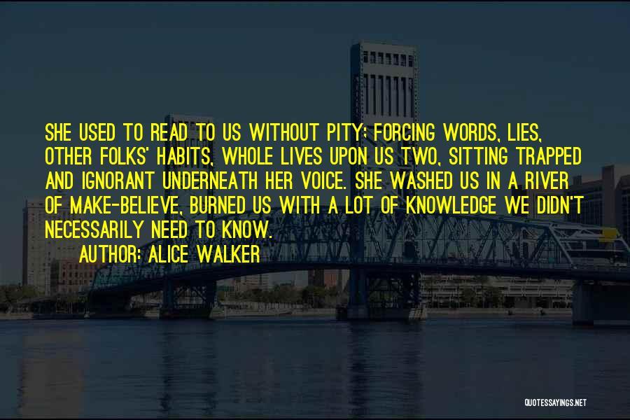 Lies We Believe Quotes By Alice Walker