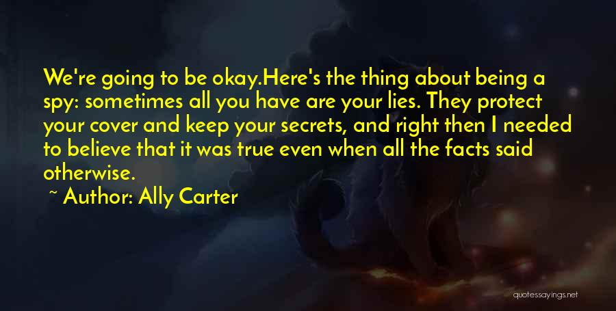 Lies We Believe Quotes By Ally Carter