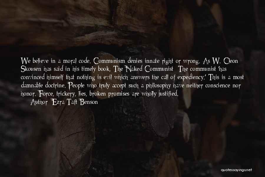 Lies We Believe Quotes By Ezra Taft Benson