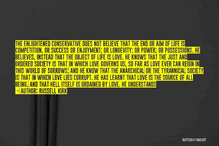 Lies We Believe Quotes By Russell Kirk