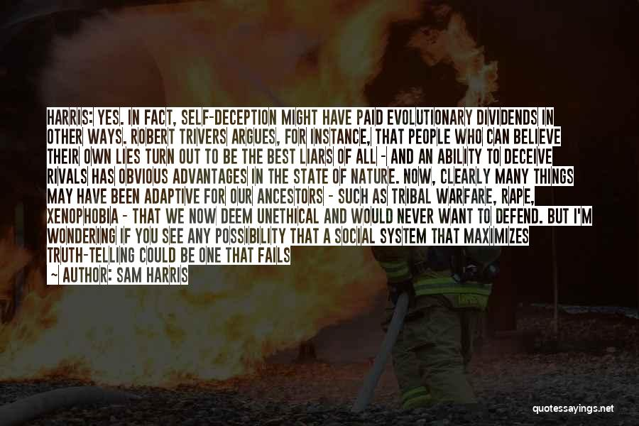 Lies We Believe Quotes By Sam Harris
