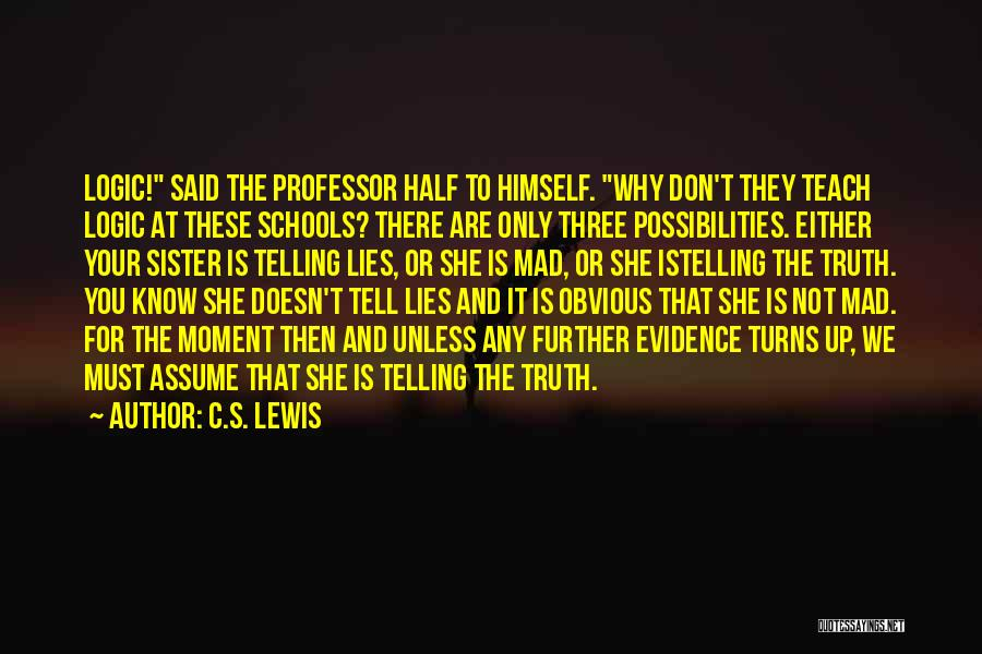 Lies You Tell Quotes By C.S. Lewis
