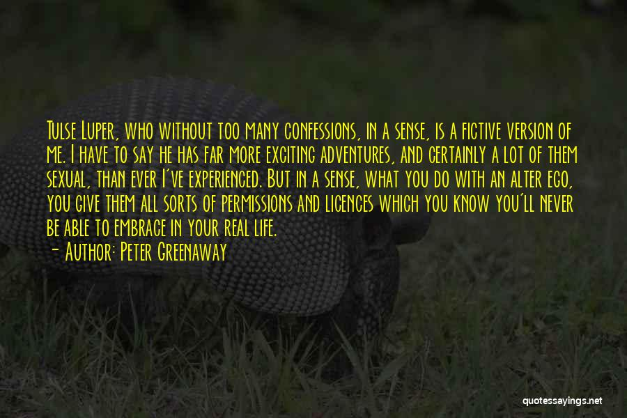 Life Adventures Quotes By Peter Greenaway