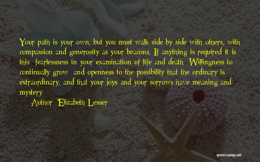 Life And Death Quotes By Elizabeth Lesser