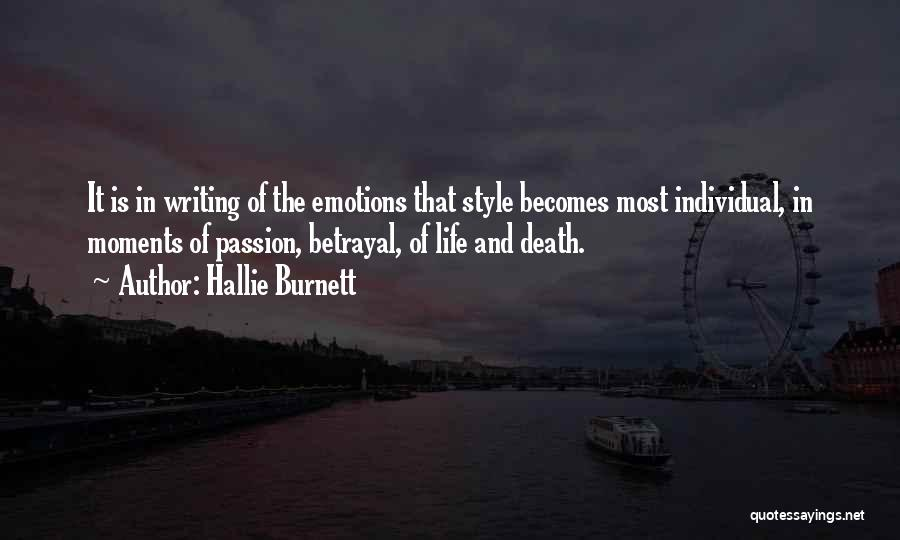 Life And Death Quotes By Hallie Burnett