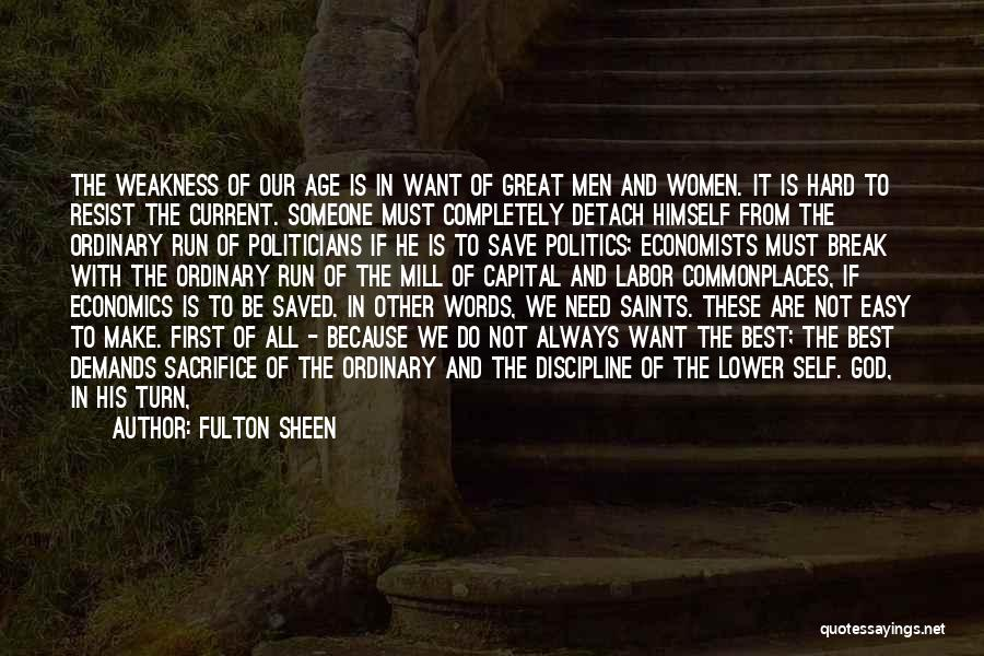 Life And Economics Quotes By Fulton Sheen