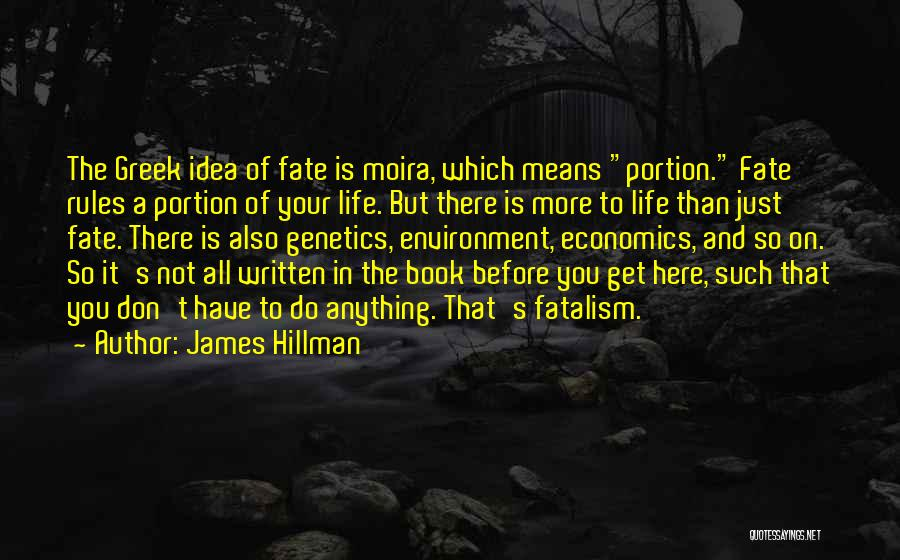Life And Economics Quotes By James Hillman