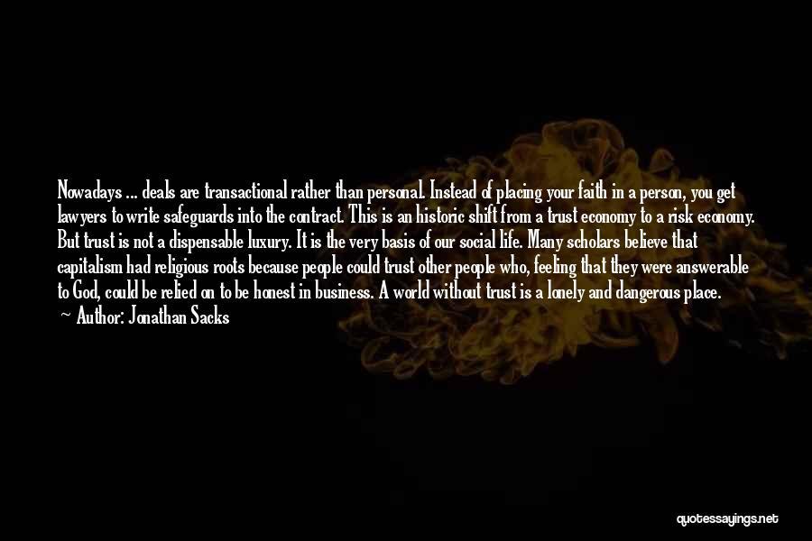 Life And Economics Quotes By Jonathan Sacks