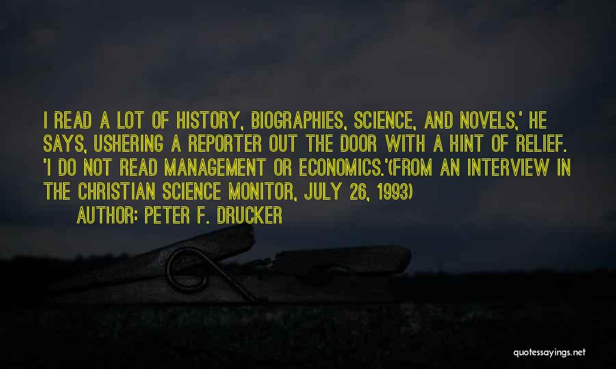 Life And Economics Quotes By Peter F. Drucker