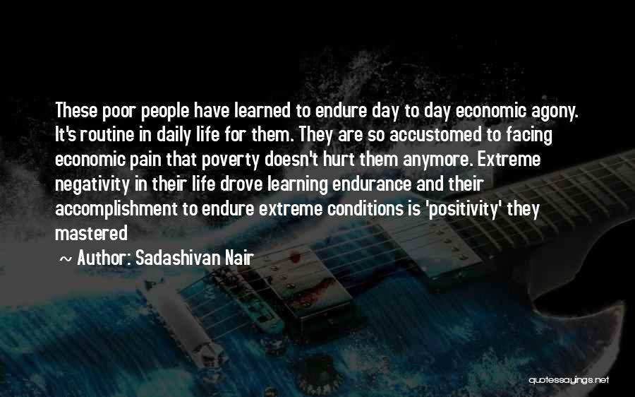 Life And Economics Quotes By Sadashivan Nair