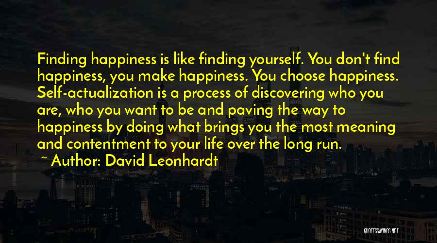 Life And Finding Happiness Quotes By David Leonhardt