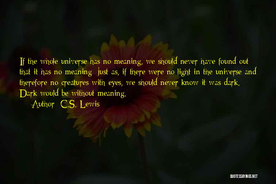 Life And It's Meaning Quotes By C.S. Lewis