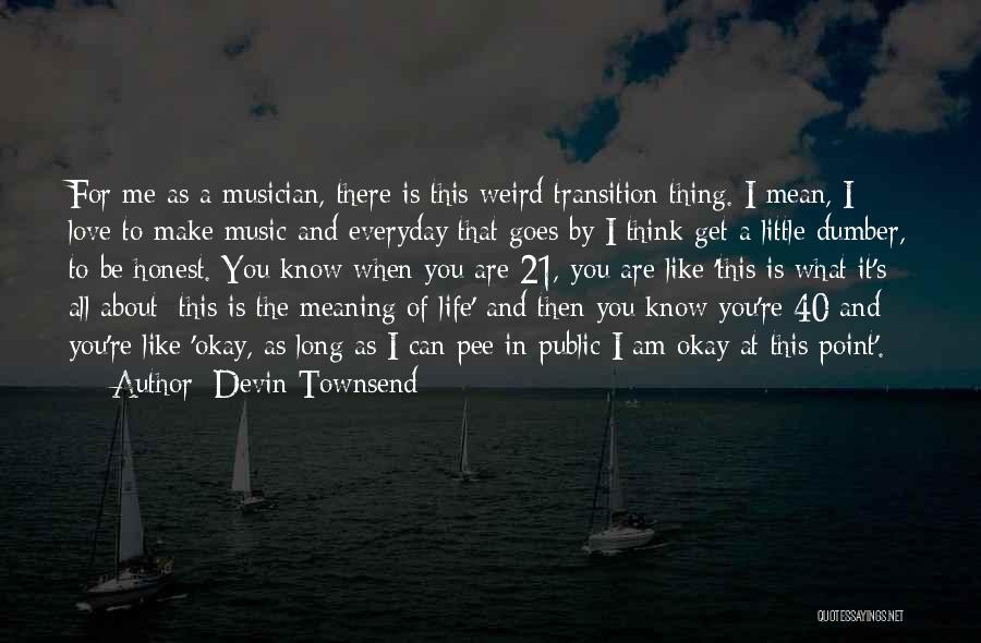 Life And It's Meaning Quotes By Devin Townsend